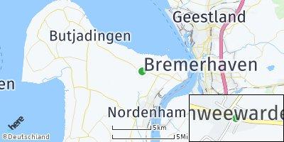 Google Map of Schweewarden