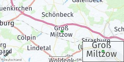 Google Map of Groß Miltzow