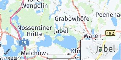 Google Map of Jabel bei Waren