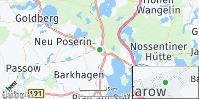 Google Map of Karow bei Lübz