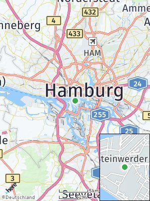 Here Map of Steinwerder