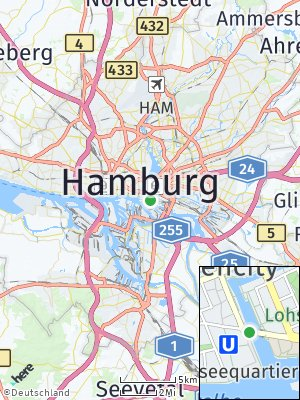 Here Map of HafenCity