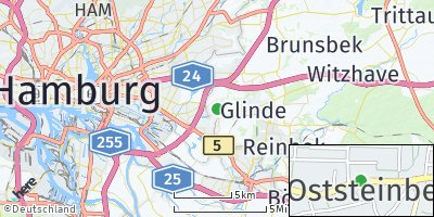 Google Map of Oststeinbek