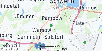 Google Map of Holthusen bei Schwerin