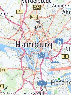 Here Map of Hamburg-Altstadt
