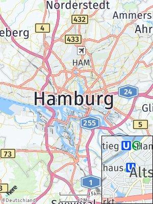 Here Map of Hamburg-Mitte