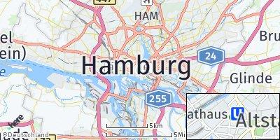 Google Map of Hamburg-Mitte