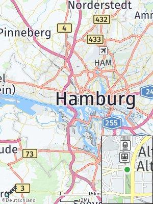 Here Map of Altona-Altstadt