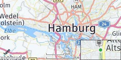 Google Map of Altona-Altstadt