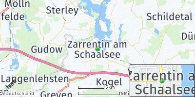Google Map of Zarrentin am Schaalsee