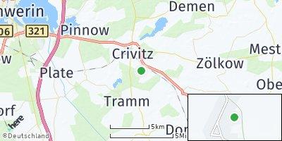 Google Map of Zapel bei Crivitz
