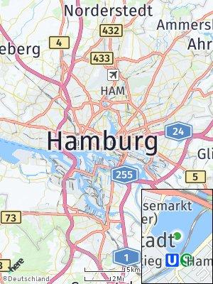 Here Map of Hamburg