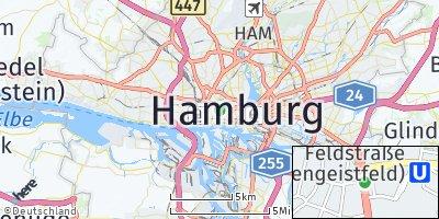 Google Map of Sankt Pauli