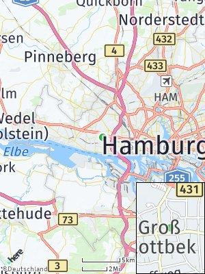 Here Map of Groß Flottbek