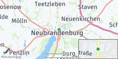 Google Map of Neubrandenburg