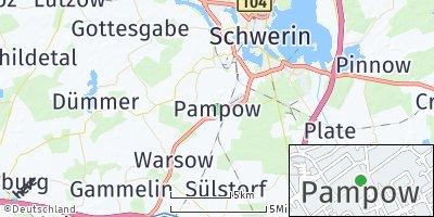Google Map of Pampow bei Schwerin