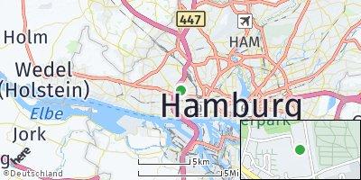 Google Map of Bahrenfeld