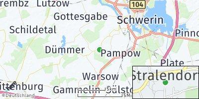Google Map of Stralendorf bei Schwerin