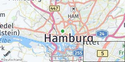 Google Map of Eimsbüttel