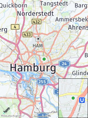 Here Map of Barmbek-Süd