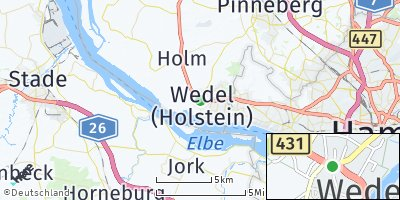 Google Map of Wedel