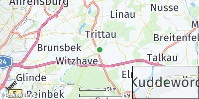Google Map of Kuddewörde