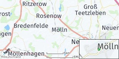 Google Map of Mölln bei Altentreptow