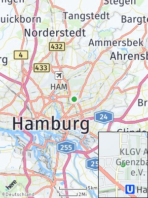Here Map of Barmbek-Nord