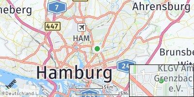 Google Map of Barmbek-Nord
