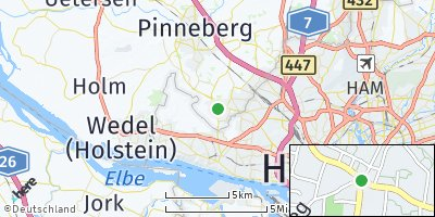 Google Map of Schenefeld bei Hamburg