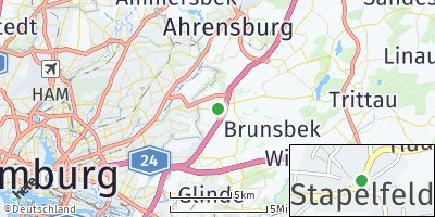 Google Map of Stapelfeld