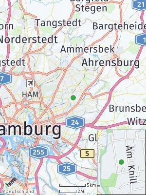 Here Map of Farmsen-Berne