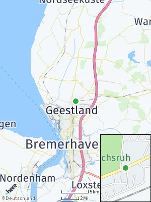 Here Map of Langen bei Bremerhaven