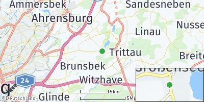 Google Map of Großensee