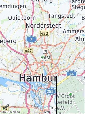 Here Map of Hamburg-Nord