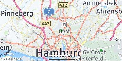 Google Map of Hamburg-Nord