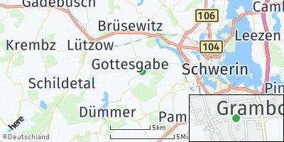 Google Map of Grambow bei Schwerin