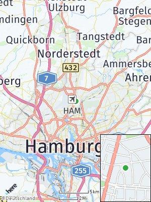 Here Map of Fuhlsbüttel
