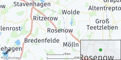 Google Map of Rosenow bei Altentreptow