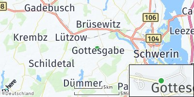 Google Map of Gottesgabe bei Gadebusch