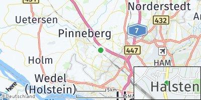 Google Map of Halstenbek