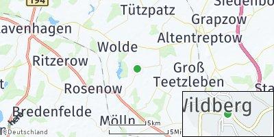 Google Map of Wildberg bei Altentreptow