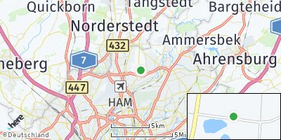 Google Map of Hummelsbüttel