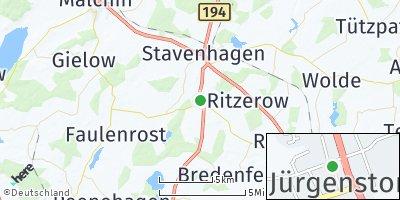 Google Map of Jürgenstorf