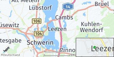 Google Map of Leezen bei Schwerin