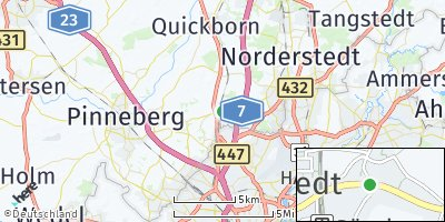 Google Map of Bönningstedt
