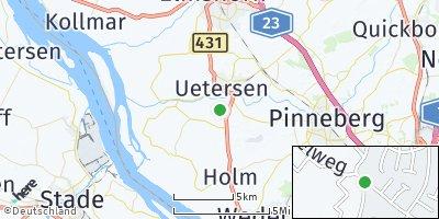 Google Map of Moorrege bei Uetersen