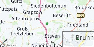 Google Map of Brunn bei Neubrandenburg