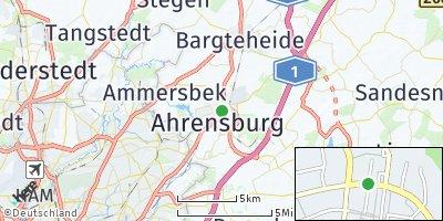 Google Map of Ahrensburg