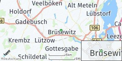Google Map of Brüsewitz